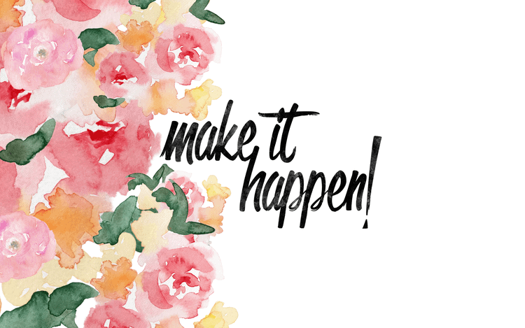 Make It Happen | January Desktop Wallpaper