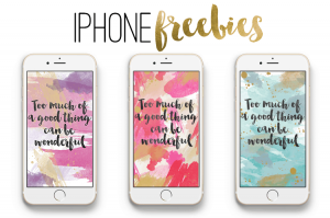 iPhone Wallpaper Freebies