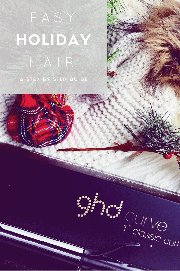 Easy Holiday Hair Tutorial featuring GHD