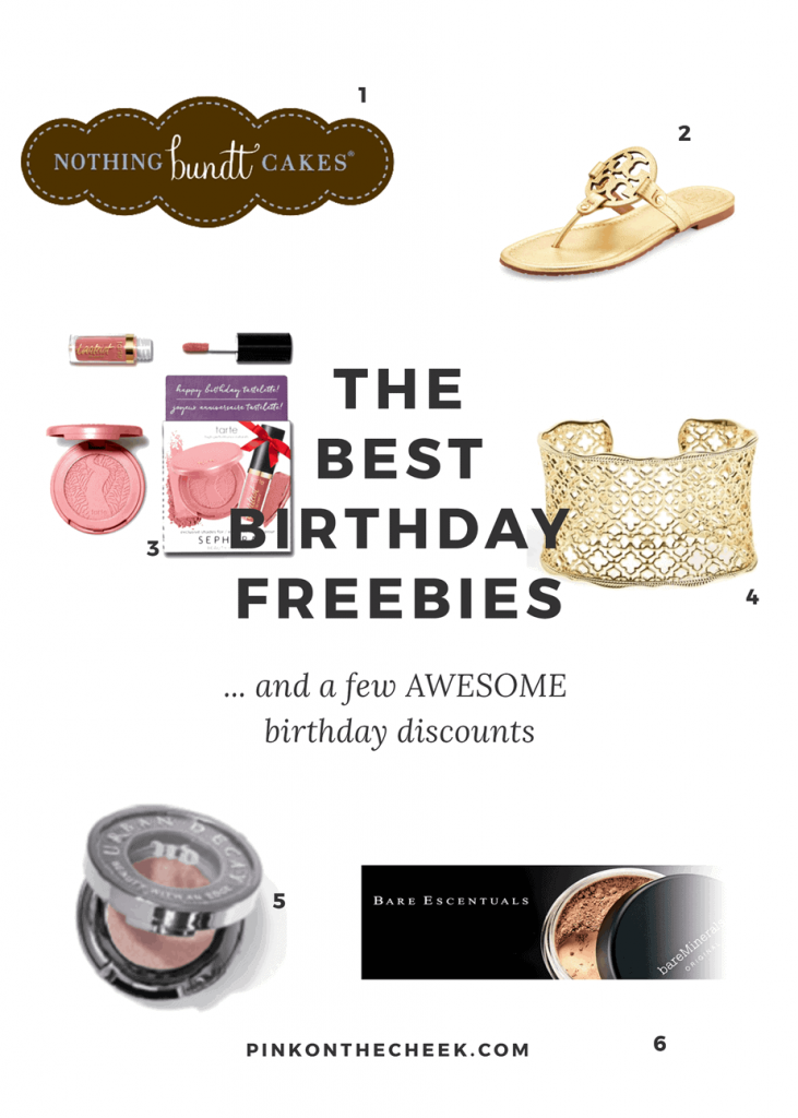 The best birthday freebies...and a few AWESOME discounts