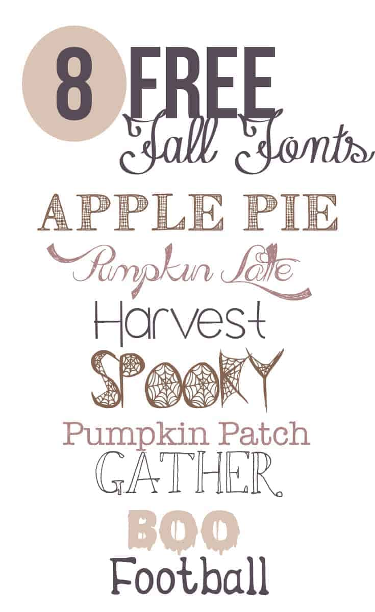 Free Fonts for Fall